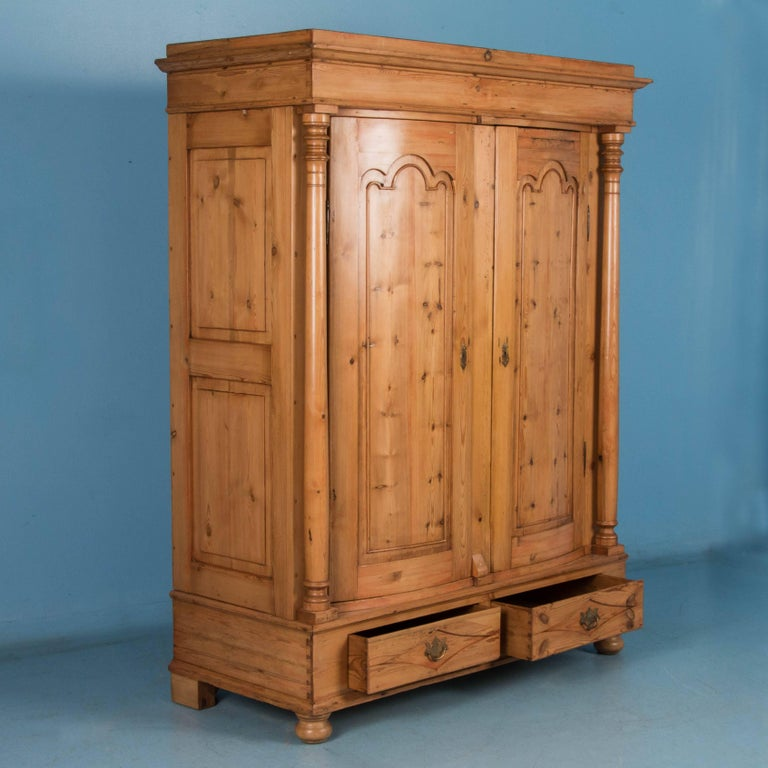 exceptional antique country pine biedermeier armoire for. Black Bedroom Furniture Sets. Home Design Ideas