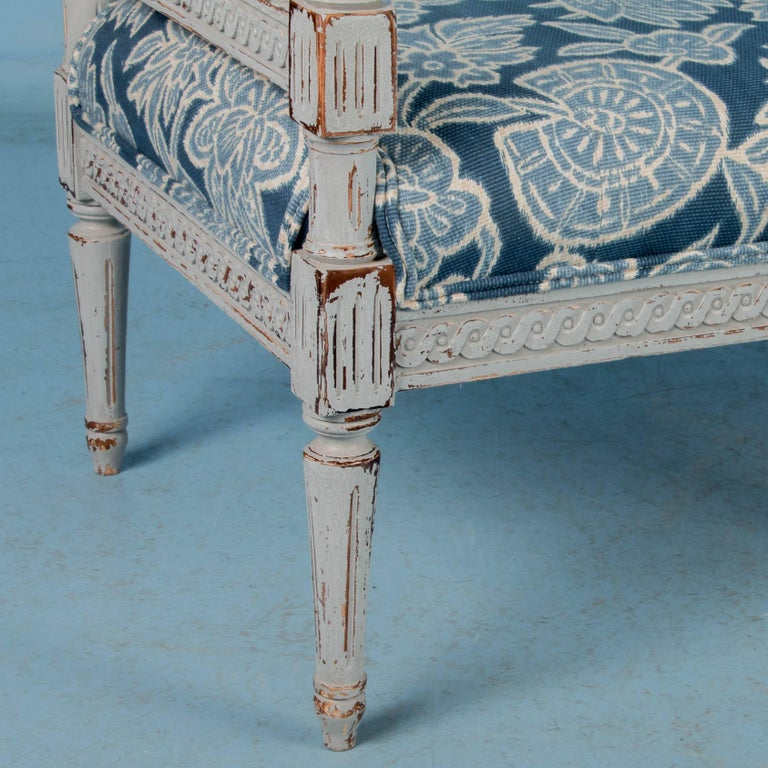 Swedish Gustavian Bench Painted Gray, Antique, 19th Century For Sale 1
