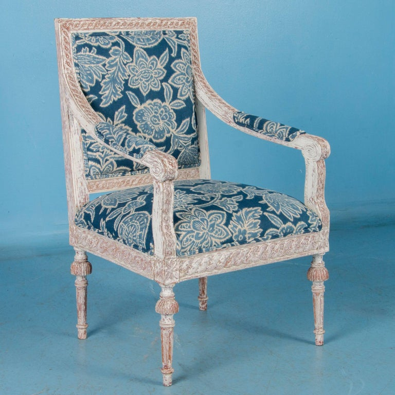Swedish Pair of Antique 19th Century Gustavian Armchairs from Sweden For Sale