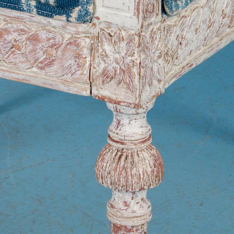 Pair of Antique 19th Century Gustavian Armchairs from Sweden For Sale 4