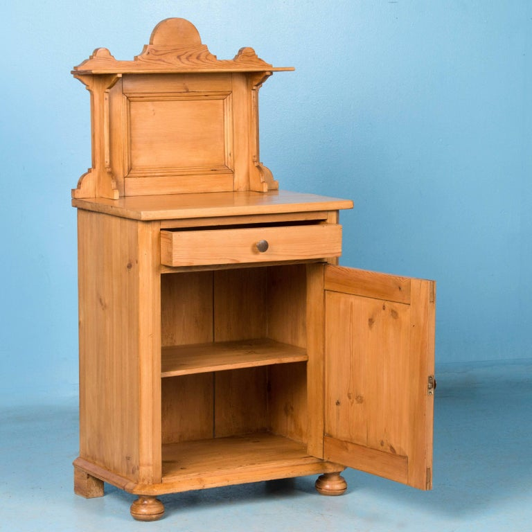 Antique 19th century danish pine nightstand for sale at for Extra tall nightstands