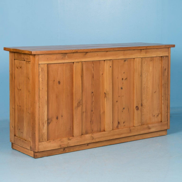 Antique 19th century danish pine grocer 39 s counter free for Antique free standing kitchen cabinets
