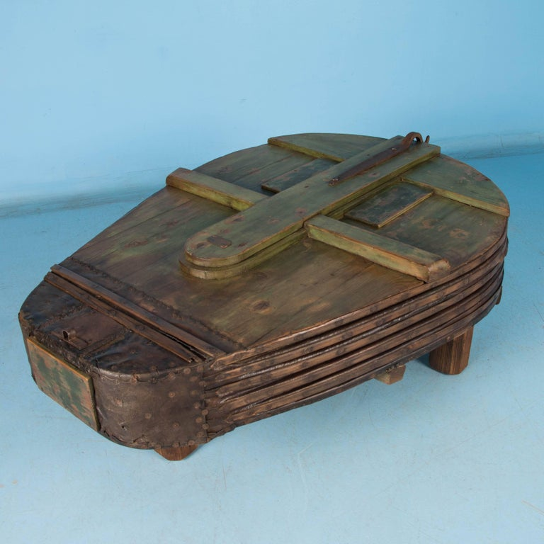 Large Antique Blacksmith's Bellows Coffee Table For Sale