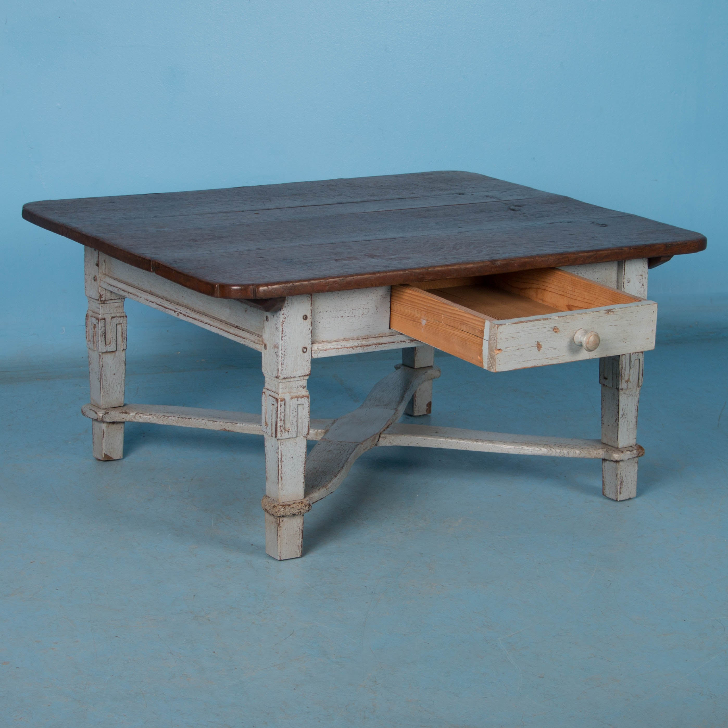 Antique Danish Coffee Table Painted Gray at 1stdibs