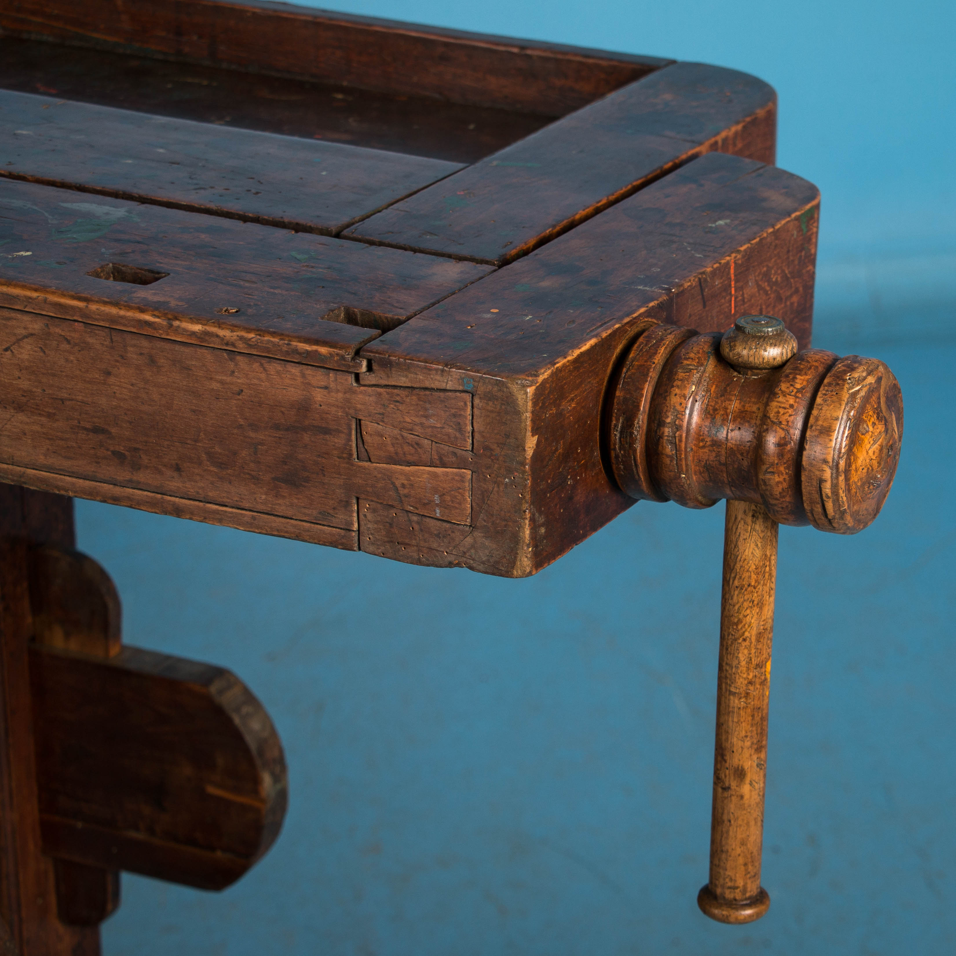 Antique Danish Carpenter\'s Workbench or Console Table at 1stdibs