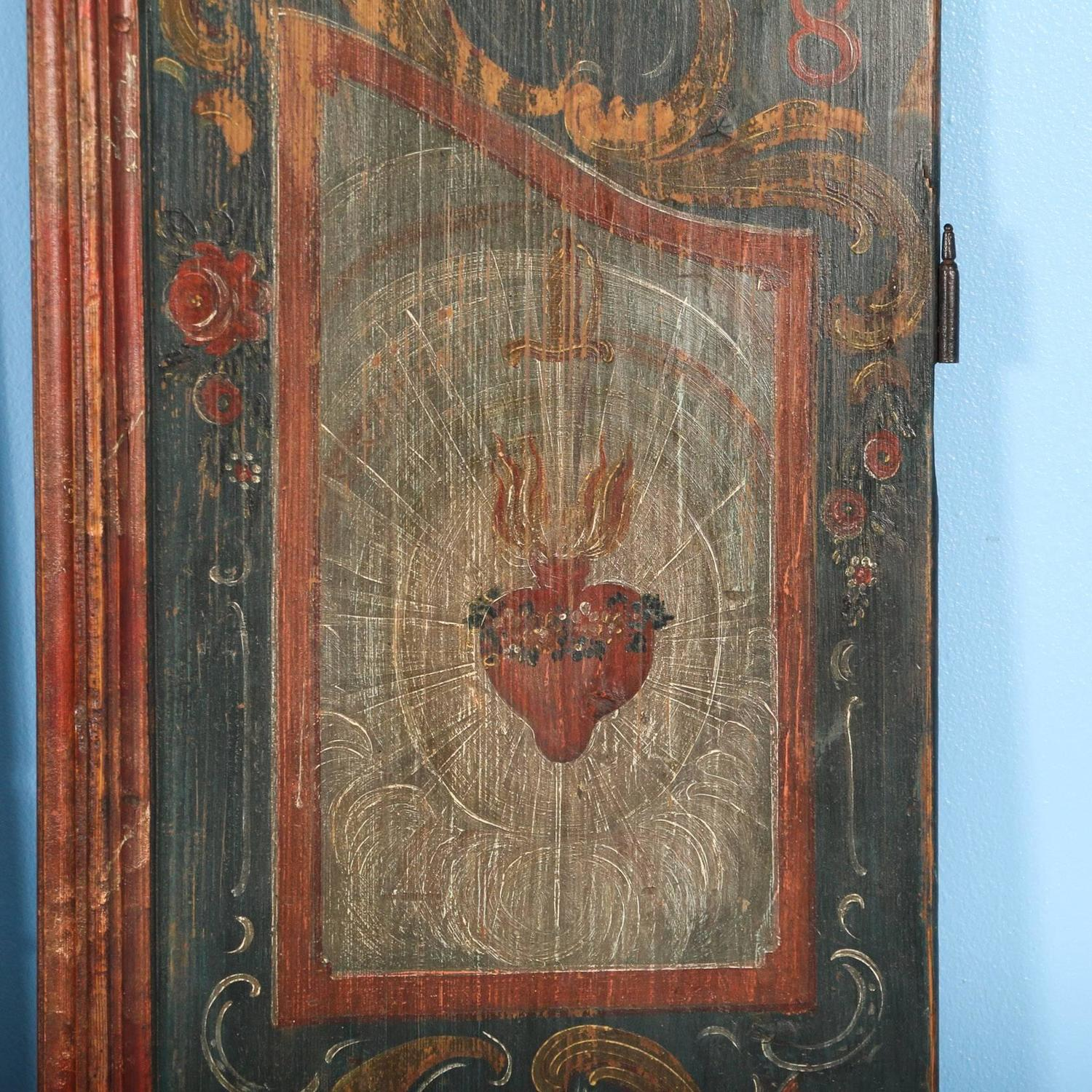 Pair Of Antique Painted Doors As Wall Hanging Decoration