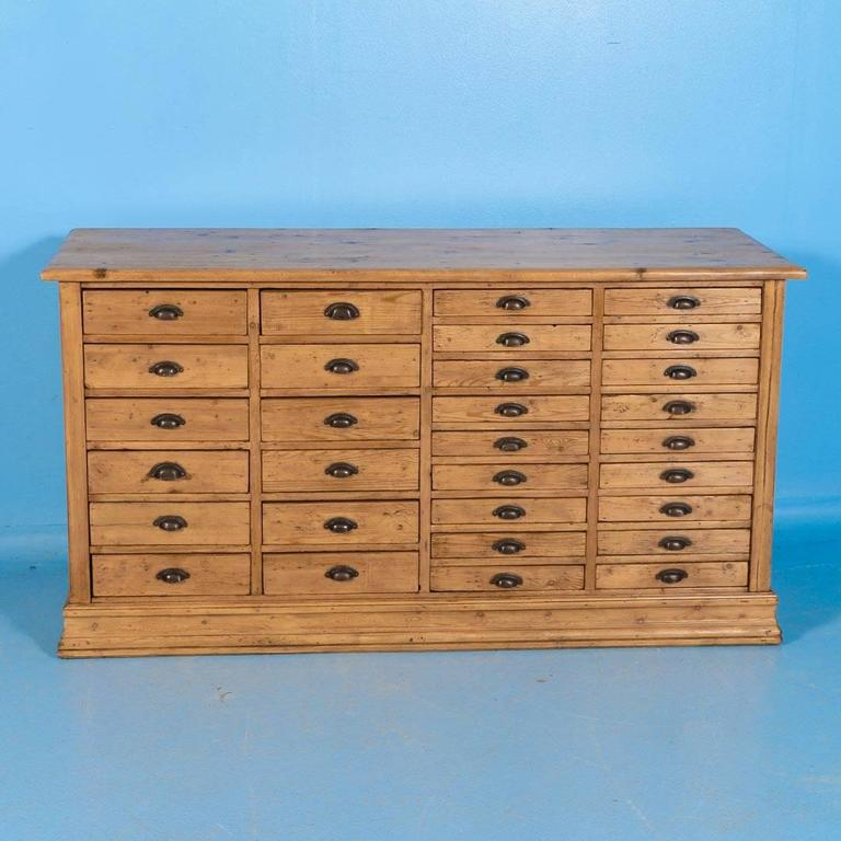 Antique Pine Multi Drawer Danish Sideboard Circa 1860 At