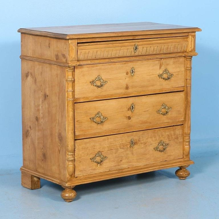 Antique Pine Chest of Drawers from Denmark, circa 1880 For Sale - Antique Pine Chest Of Drawers From Denmark, Circa 1880 At 1stdibs