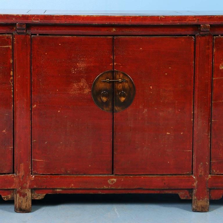 Antique Red Lacquered Chinese 9 Sideboard Circa 1800 At
