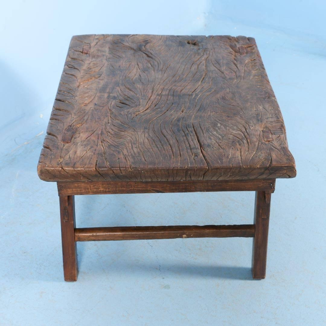 Antique Chinese Elm Side Table Or Small Coffee Table Circa 1820 Image