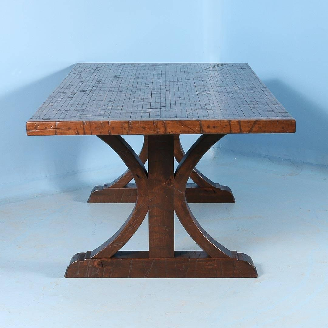 Maple Dining Table Made from Reclaimed Box Car Flooring at 1stdibs