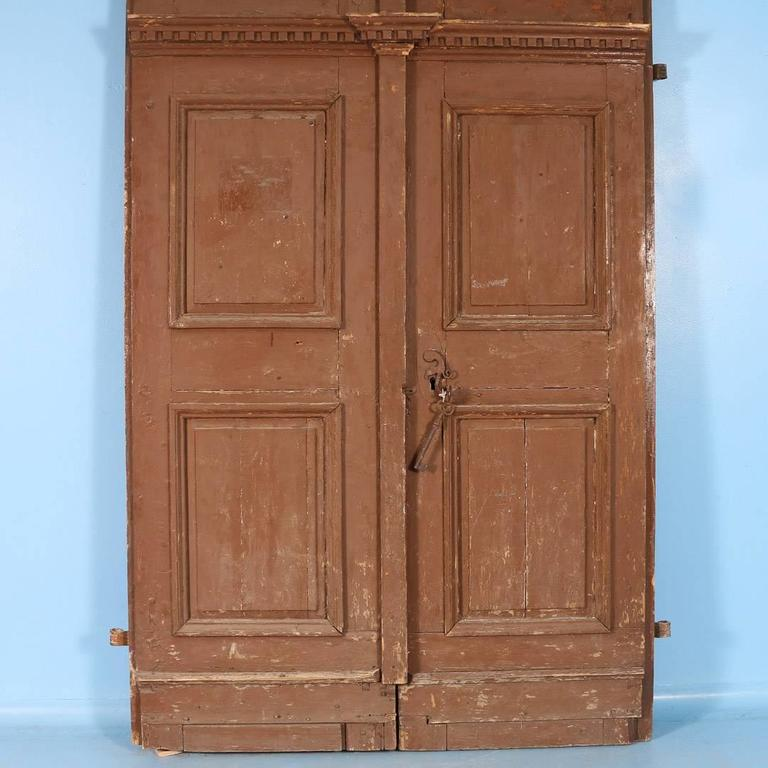 Large antique french pine entry doors circa 1820 1840 for for Oversized exterior french doors