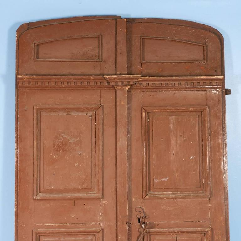 Large Antique French Pine Entry Doors, Circa 1820-1840 At
