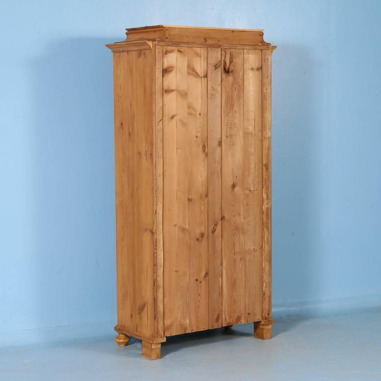 Antique Danish Pine Single Door Armoire, circa 1860 4