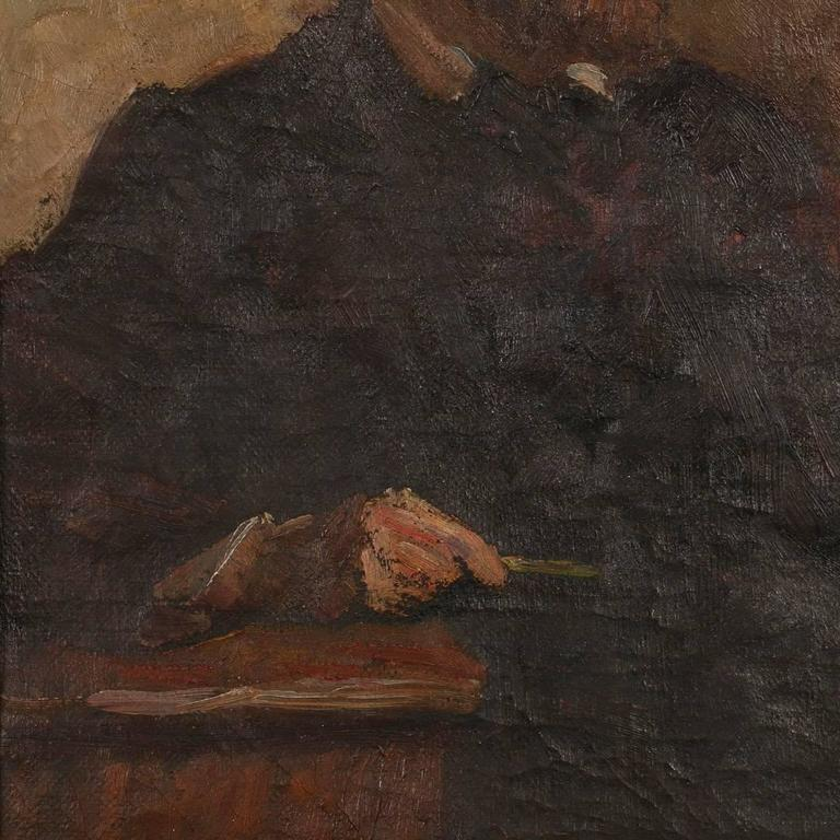 Antique Oil on Canvas Portrait of a Danish Gentleman, circa 1909 For Sale 2