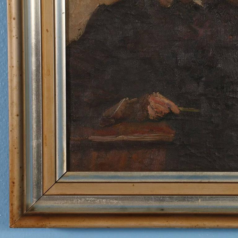 Antique Oil on Canvas Portrait of a Danish Gentleman, circa 1909 For Sale 1