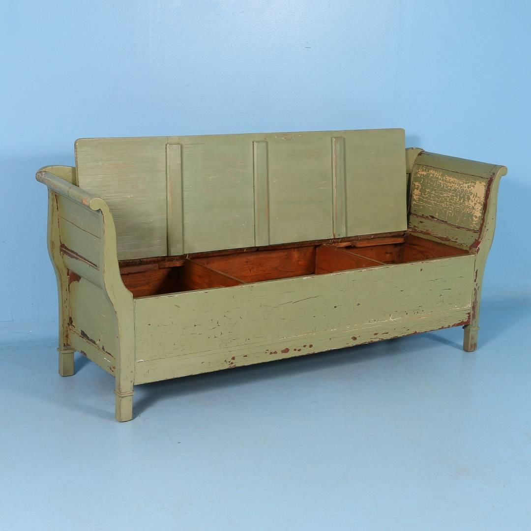 antique swedish green painted storage bench circa 1860 for sale at 1stdibs. Black Bedroom Furniture Sets. Home Design Ideas