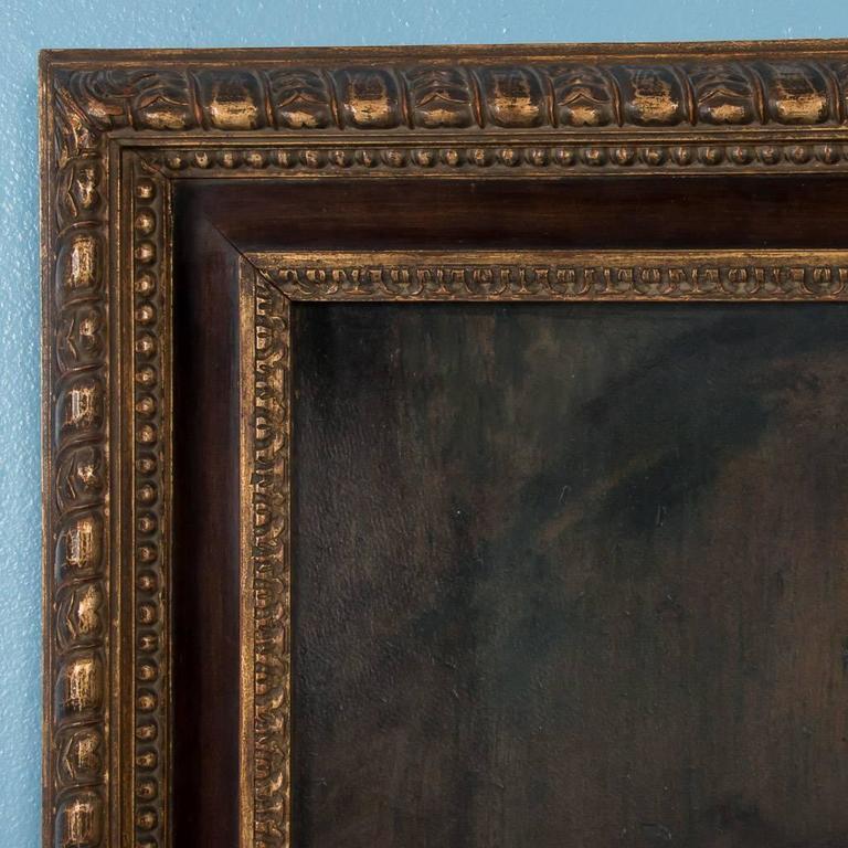 20th Century Original Antique Oil on Canvas Painting Portrait of a Gentleman For Sale
