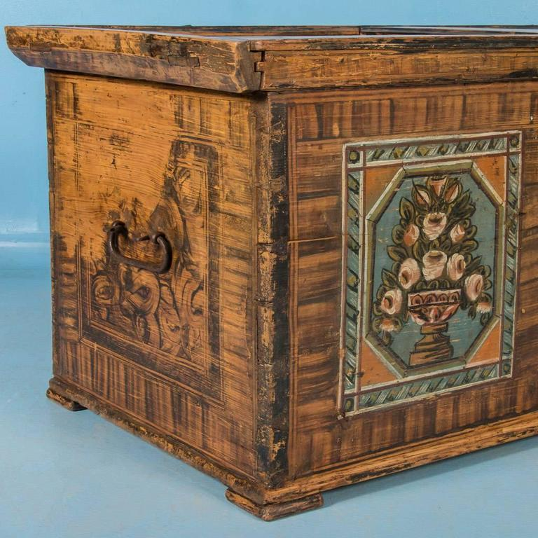 Antique 19th Century Trunk from Austria with Original Paint 5