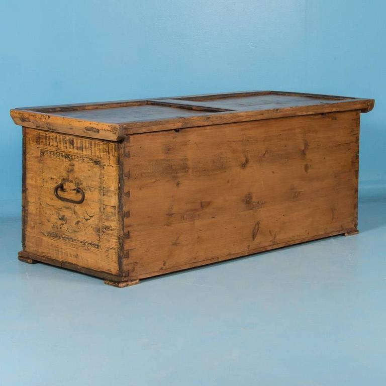 Antique 19th Century Trunk from Austria with Original Paint 3