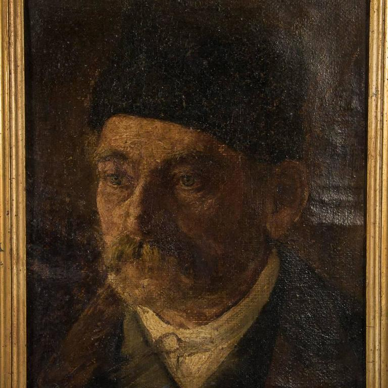 Antique 19th century original oil painting portrait of a gentleman, circa 1880 from Germany. This well executed portrait of an elderly gentleman is unsigned and mounted in a giltwood frame. Please take a moment to enlarge the photos and examine the