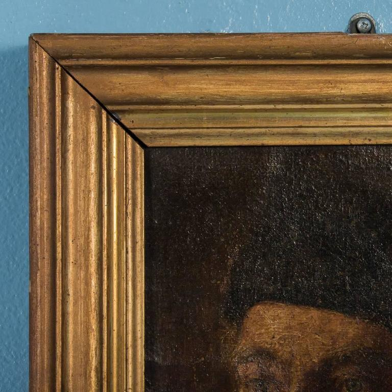Antique 19th Century German Oil Painting Portrait of a Gentleman In Good Condition For Sale In Denver, CO