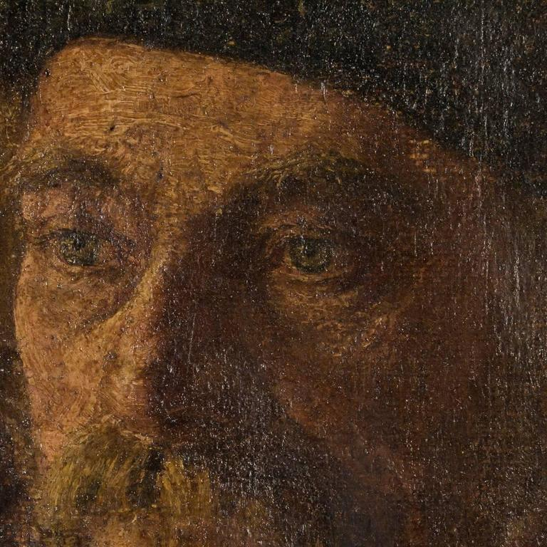 Antique 19th Century German Oil Painting Portrait of a Gentleman For Sale 1