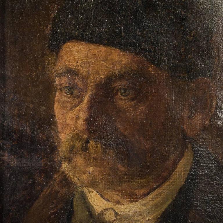 Antique 19th Century German Oil Painting Portrait of a Gentleman For Sale 2