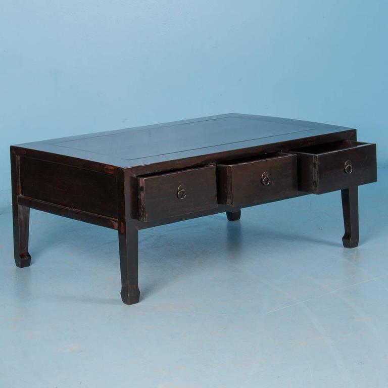 Antique 19th Century Chinese Black Lacquered Coffee Table For Sale At 1stdibs