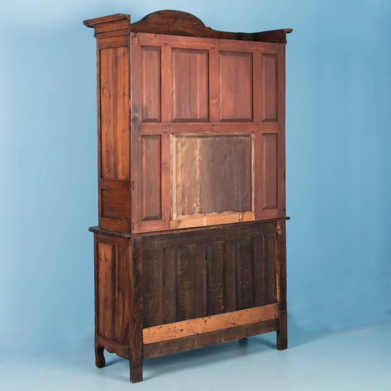 Antique 19th Century Hand-Carved French Provincial Bookcase Cabinet For Sale 7