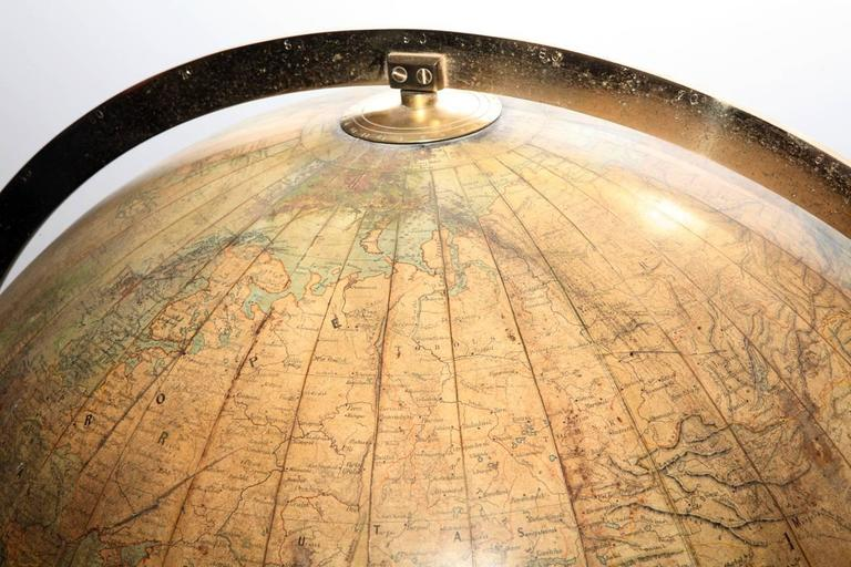Scottish Large Terrestrial Library Globe For Sale