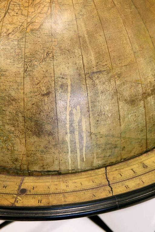 19th Century Large Terrestrial Library Globe For Sale
