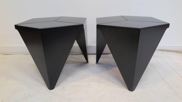 Powder-Coated Isamu Noguchi Prism Tables For Sale