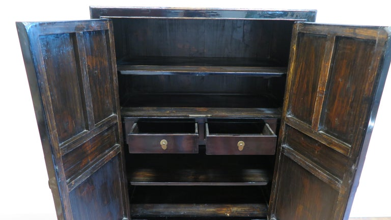 Chinese Black Lacquer Cabinet For Sale 1