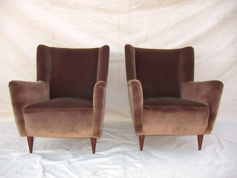Gio Ponti Style Club Chairs At 1stdibs