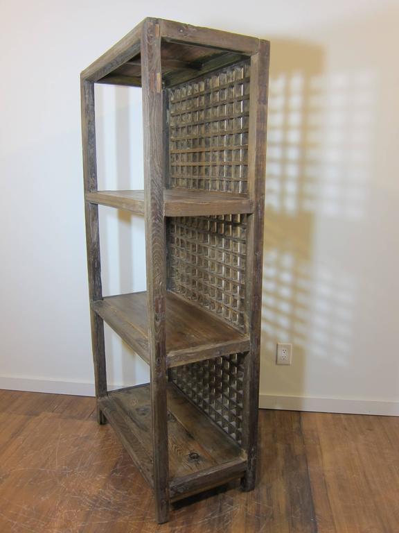 Chinese Rustic Bookcase For Sale