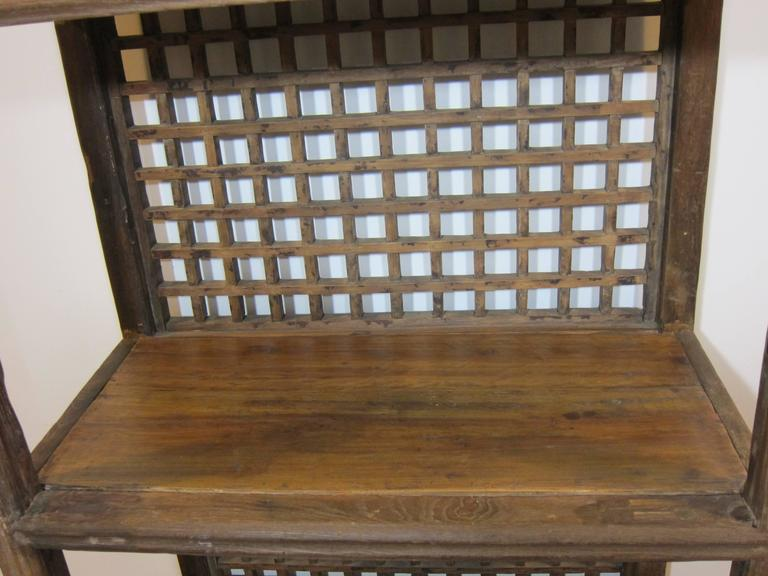 Elm Rustic Bookcase For Sale