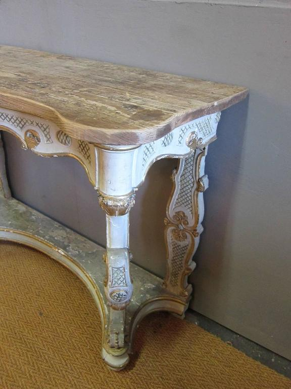 19th Century Italian Baroque Console For Sale 1