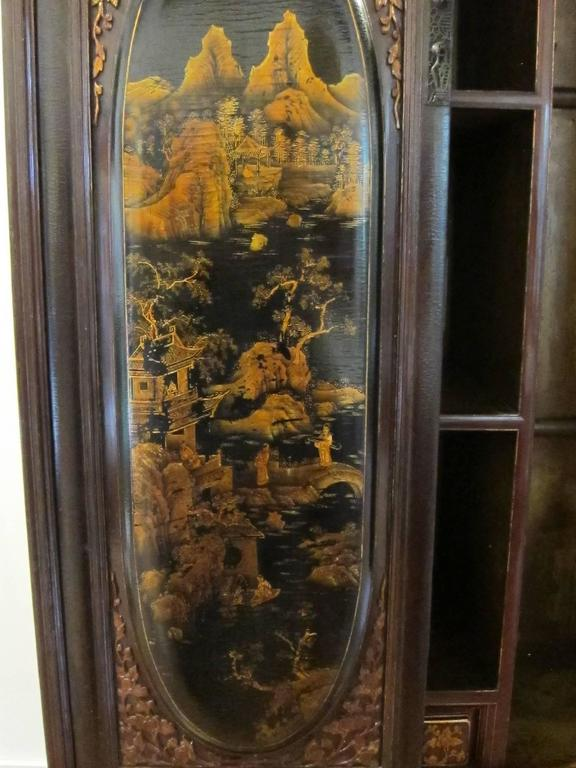 Hardwood 19th Century Gilt Painted Cabinet For Sale