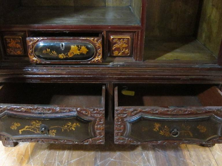 19th Century Gilt Painted Cabinet In Good Condition For Sale In New York, NY