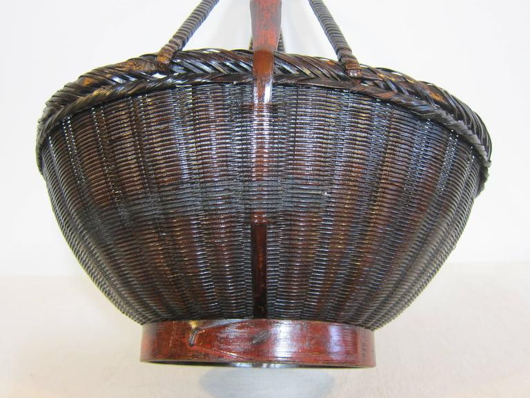 Chinese 19th century Antique Woven Basket For Sale