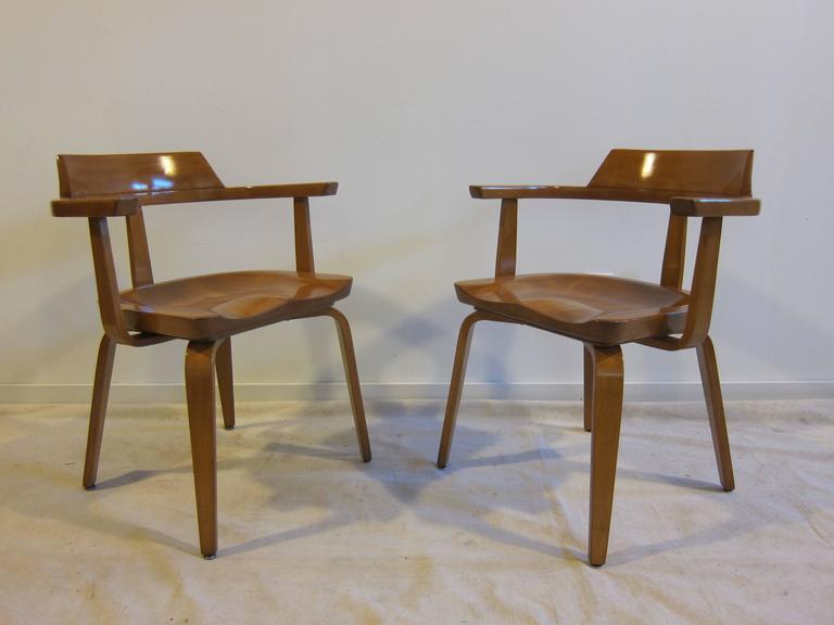 Bauhaus Walter Gropius Armchairs W199 Set of Eight For Sale