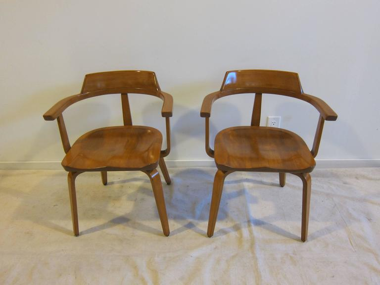 American Walter Gropius Armchairs W199 Set of Eight For Sale