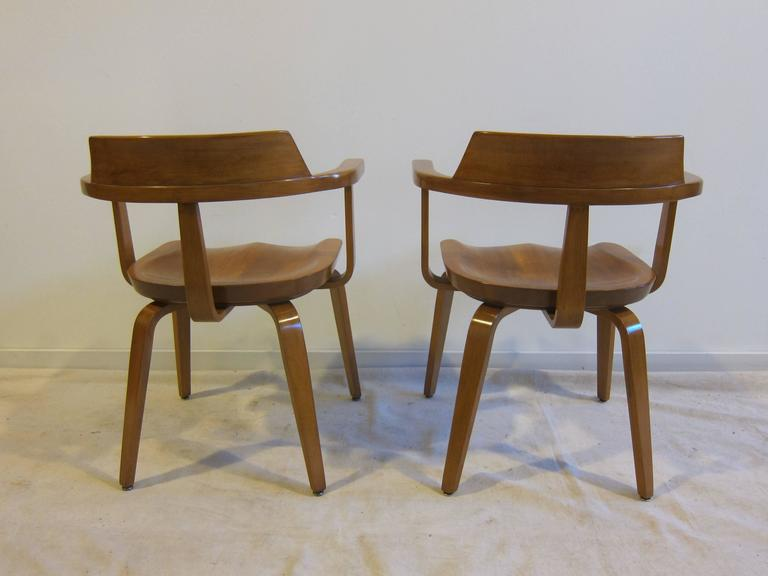 Laminated Walter Gropius Armchairs W199 Set of Eight For Sale