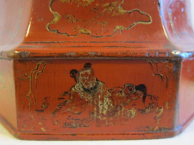 Late 18th Century 19th Century Octagon Wooden Bowl Box For Sale