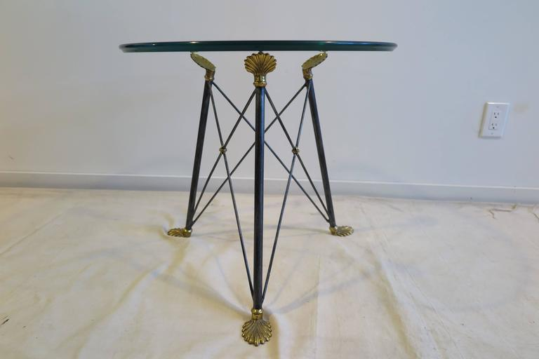 Regency Style Glass Table For Sale 3