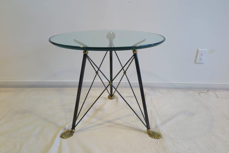 Regency Style Glass Table For Sale 4