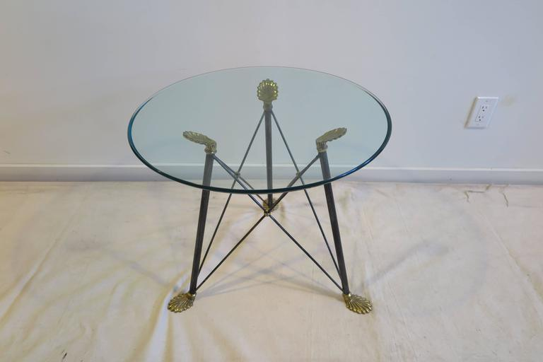 Regency Style Glass Table For Sale 5