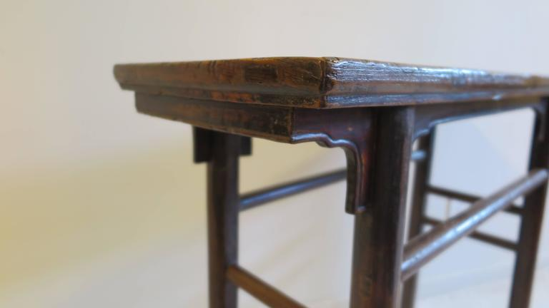 Elm 19th Century Console Table For Sale