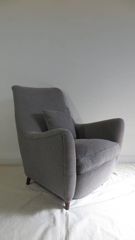 Italian Gio Ponti Style Lounge Chair For Sale 3